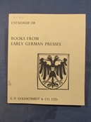 Catalogue 138: Books from early German presses.